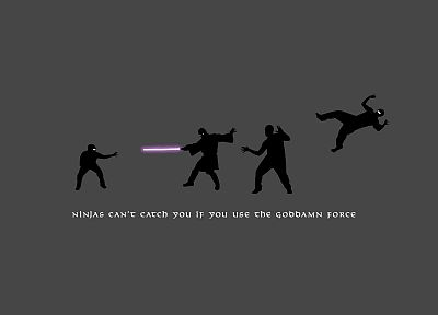 Star Wars, ninjas, lightsabers, silhouettes, ninjas cant catch you if, Mace Windu - related desktop wallpaper