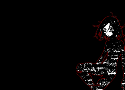 Gally, Gunnm, cyborgs, Battle Angel Alita, anime, black background - desktop wallpaper