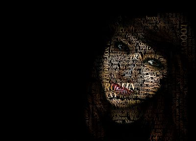 text, Boxxy, typographic portrait - random desktop wallpaper