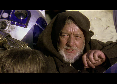 Star Wars, R2D2, droids, screenshots, Obi-Wan Kenobi, Alec Guinness - random desktop wallpaper