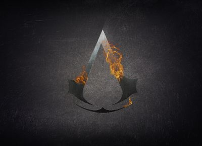 assassin, Assassins Creed, fire, symbol, logos - related desktop wallpaper