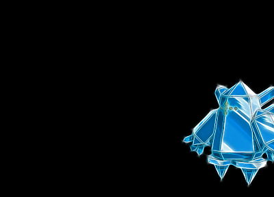 Pokemon, simple background, black background, Regice - random desktop wallpaper