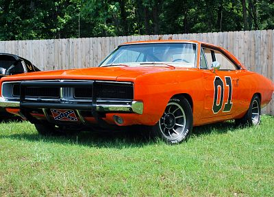 muscle cars, Dodge Charger, Dukes of Hazzard, General Lee - random desktop wallpaper
