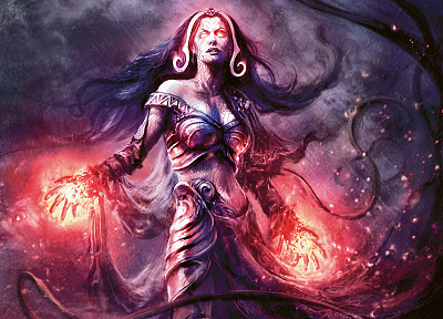 Magic: The Gathering, creatures, Planeswalker, Liliana Vess - related desktop wallpaper
