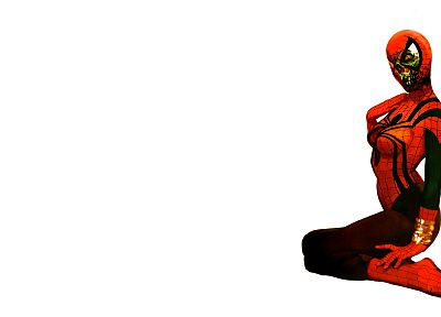 white background, Spider-woman - desktop wallpaper