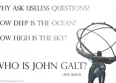 Ayn Rand, Atlas Shrugged, John Galt - random desktop wallpaper