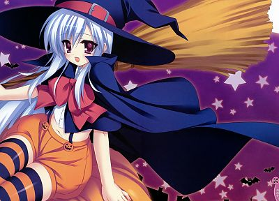 witches, striped legwear - desktop wallpaper