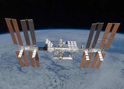 outer space, International Space Station - random desktop wallpaper