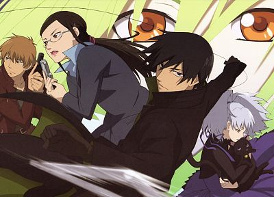 Darker Than Black, Kirihara Misaki, Yin, Amber (Darker Than Black), Yutaka Kouno - related desktop wallpaper
