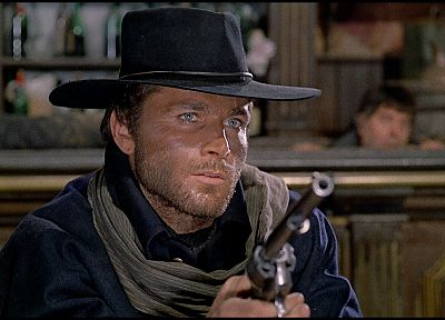 guns, movies, blue eyes, cowboys, movie stills, Django, Franco Nero - related desktop wallpaper