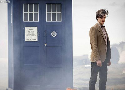 TARDIS, Matt Smith, Eleventh Doctor, Doctor Who - related desktop wallpaper