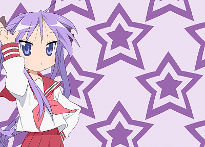 Lucky Star, school uniforms, Hiiragi Kagami - random desktop wallpaper