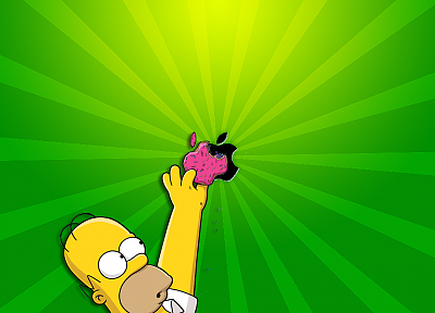 Apple Inc., Homer Simpson, The Simpsons - desktop wallpaper
