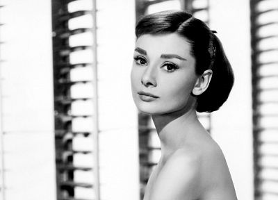 Audrey Hepburn, grayscale, monochrome - related desktop wallpaper