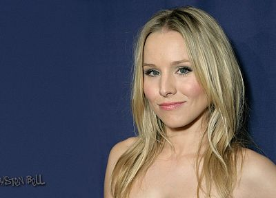 blondes, women, Kristen Bell, celebrity - random desktop wallpaper