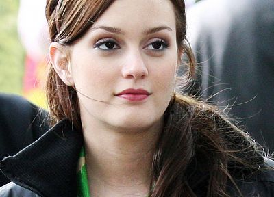 Leighton Meester, Gossip Girl, Blair Waldorf, faces - desktop wallpaper