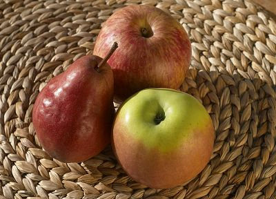 fruits, pears, apples - desktop wallpaper