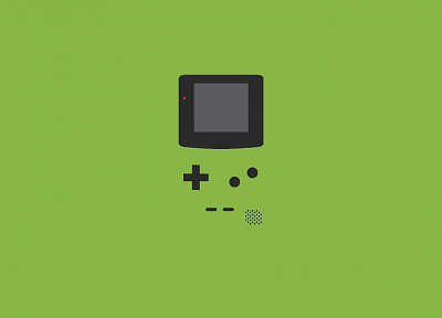 green, minimalistic, Gameboy - random desktop wallpaper