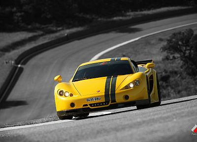 cars, vehicles, Ascari, selective coloring, Ascari A10 - random desktop wallpaper