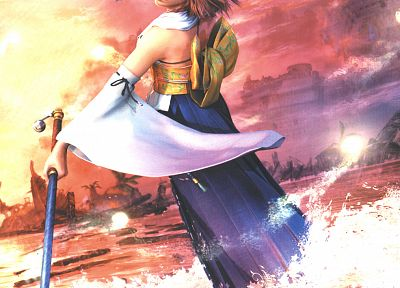Final Fantasy, video games, Yuna, Final Fantasy X - random desktop wallpaper
