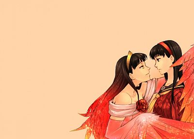 Persona series, Persona 4, simple background, Amagi Yukiko - desktop wallpaper