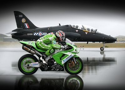 aircraft, race, planes, motorbikes - desktop wallpaper