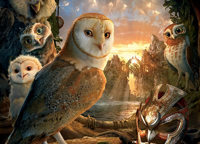owls, Legend Of The Guardians, movie posters - popular desktop wallpaper