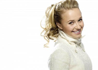 women, actress, Hayden Panettiere, celebrity, white background - desktop wallpaper