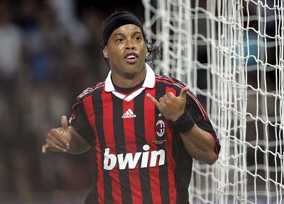 men, Brazil, Ronaldinho, AC Milan - random desktop wallpaper