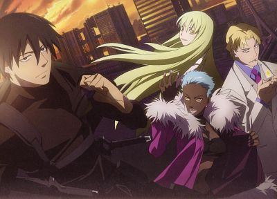 Darker Than Black, Hei, Amber (Darker Than Black), November 11, April (Darker Than Black) - random desktop wallpaper