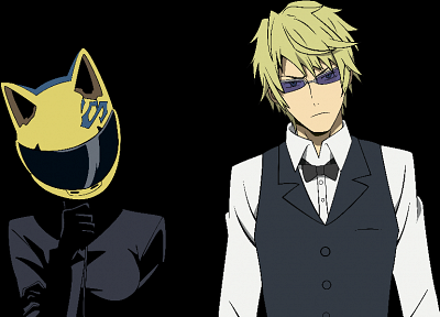 helmet, transparent, Durarara!!, Heiwajima Shizuo, anime, anime boys, anime girls, Sturluson Celty, anime vectors - popular desktop wallpaper