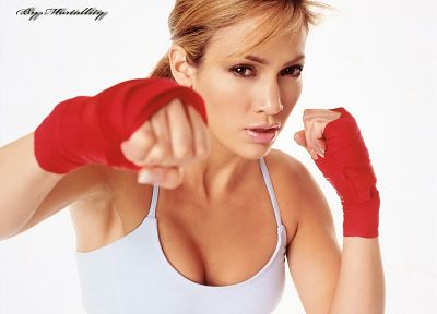 women, Jennifer Lopez, boxing, singers - random desktop wallpaper