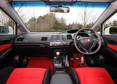 Honda, vehicles, Honda Civic, car interiors - related desktop wallpaper