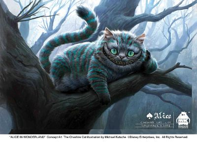 Alice in Wonderland, Cheshire Cat - random desktop wallpaper
