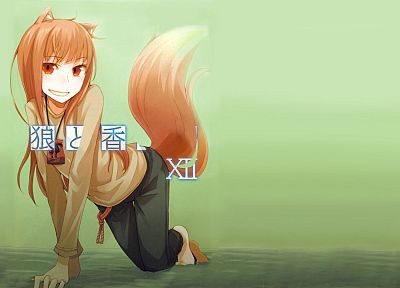 Spice and Wolf, animal ears, Holo The Wise Wolf - desktop wallpaper