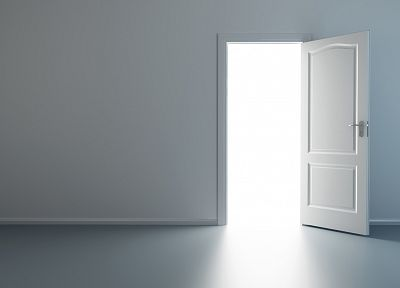 light, minimalistic, artwork, doors - random desktop wallpaper