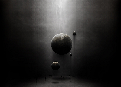 outer space, planets, grey - related desktop wallpaper