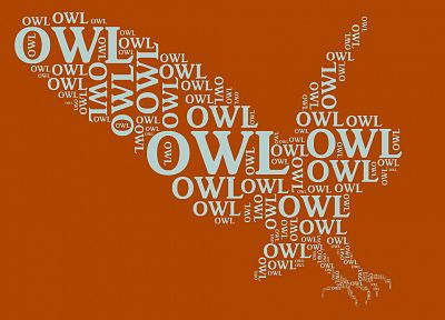 typography, owls - desktop wallpaper