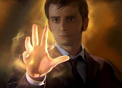 David Tennant, Doctor Who, fan art, Tenth Doctor - desktop wallpaper