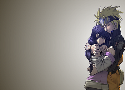 Naruto: Shippuden, Hyuuga Hinata, Uzumaki Naruto, simple background - related desktop wallpaper