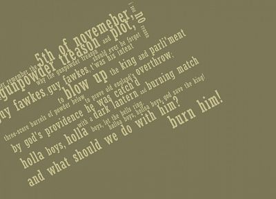 typography, Guy Fawkes, V for Vendetta - desktop wallpaper