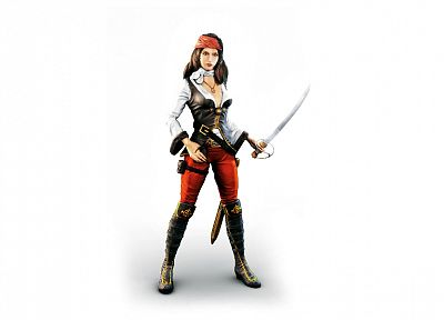 women, pirates, white background - desktop wallpaper
