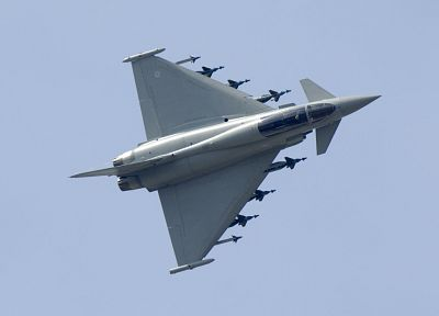 aircraft, military, Eurofighter Typhoon, planes - desktop wallpaper