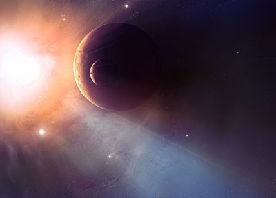 Sun, outer space, stars, planets, spaceships, vehicles - related desktop wallpaper